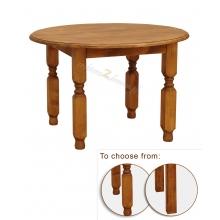 Pine round coffee table Hacienda