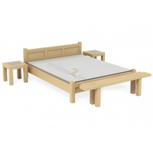 Birch bed Rodan L8 + bench