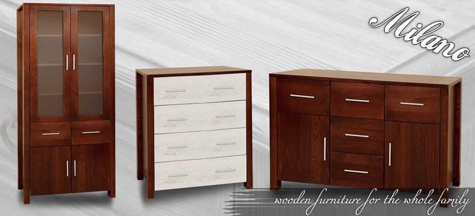 Pine furniture Wood furniture - Wardrobes Sideboards Beds